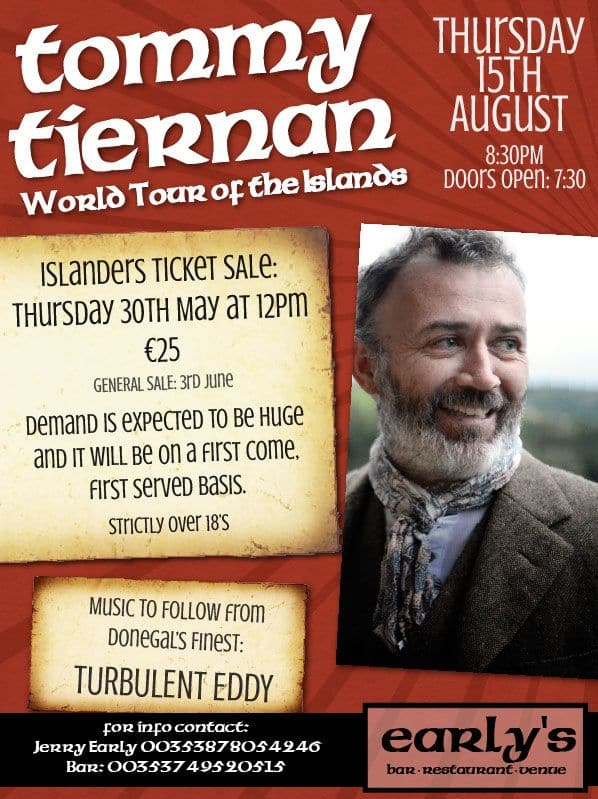 Tommy Tiernan Comedy Show Poster