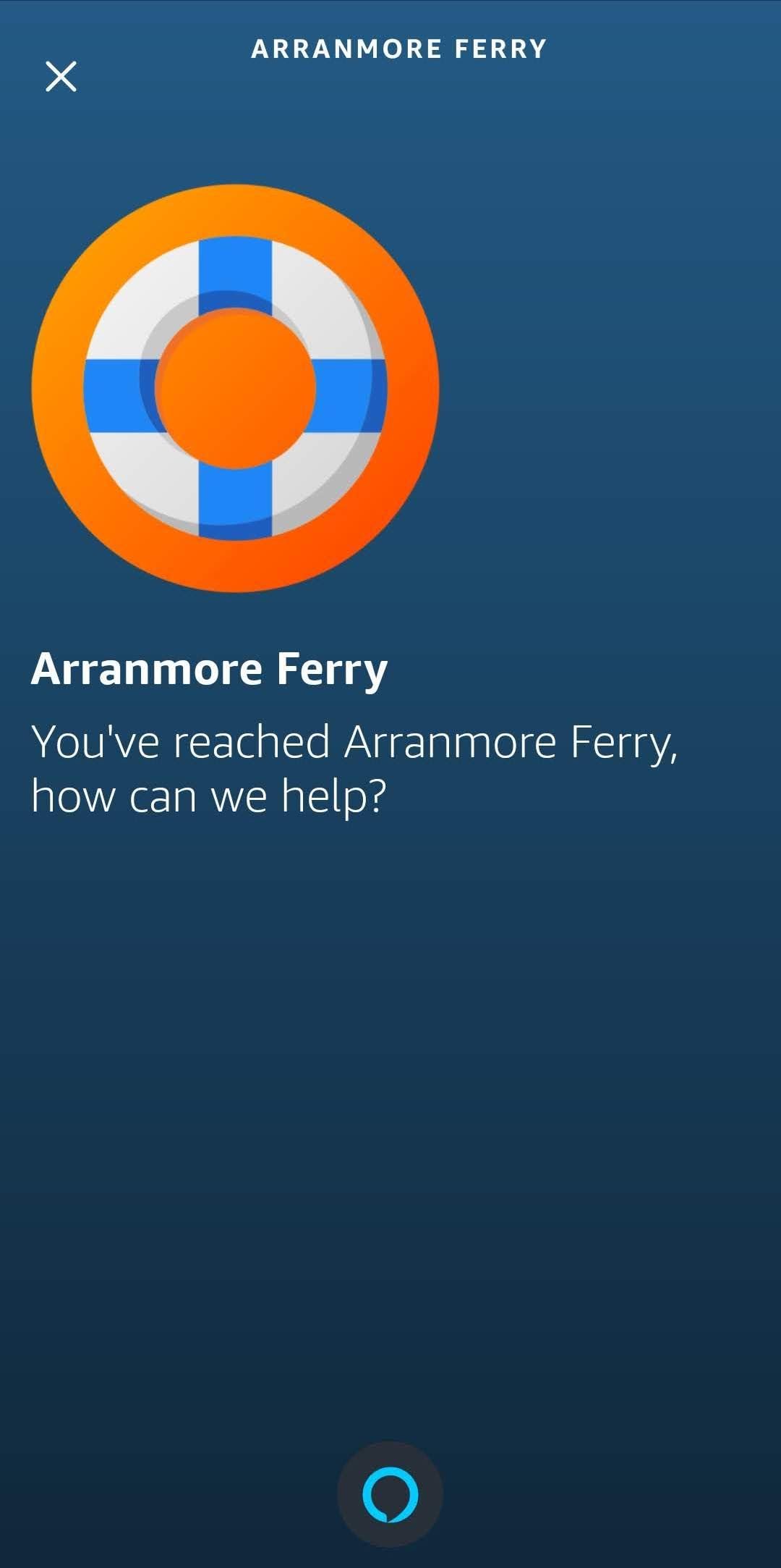 Mobile App with Arranmore Ferry